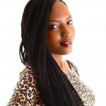 coiffure afro tendance: les box braids