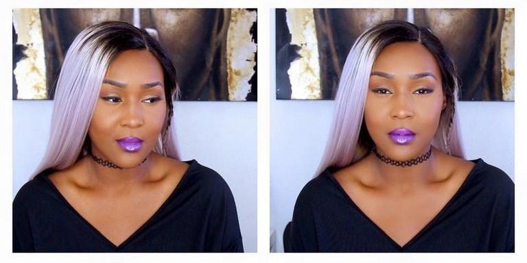 Coloration grise avec une Lace wig