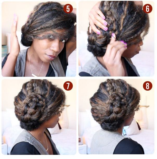 braided updo afro