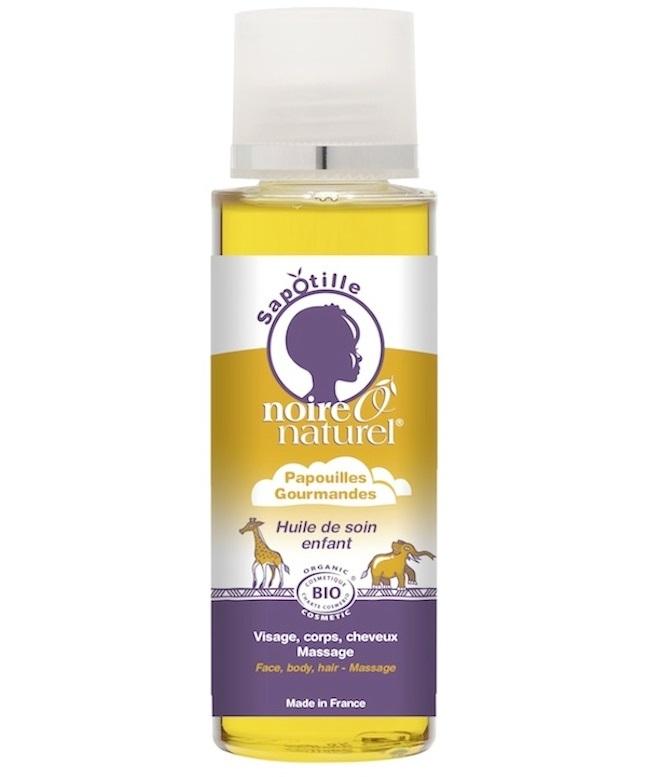L'huile de soins Papouilles de la gamme enfants Noire O Naturel