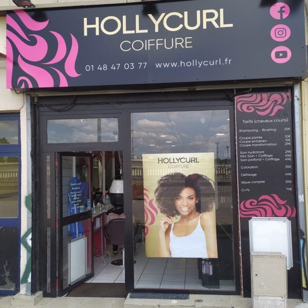 Vitrine Salon Hollycurl Coiffure